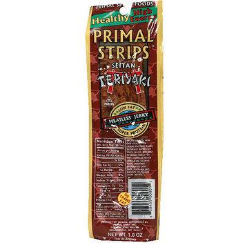 Primal Strips Meatless Vegan Seitan Teriyaki Jerky, 1 oz (Pack of 24)