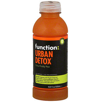 Function: Urban Detox Citrus Prickly Pear Drink, 16.9 oz (Pack of 12)