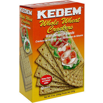 Kedem Whole Wheat Crackers With Sesame Seeds, 9 oz (Pack of 24)