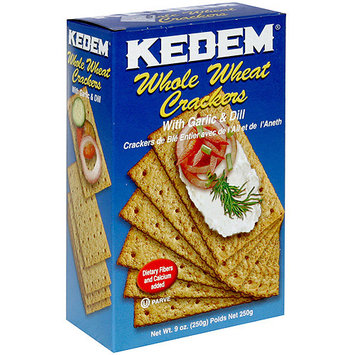 Kedem Whole Wheat Crackers With Garlic & Dill, 9 oz (Pack of 24)