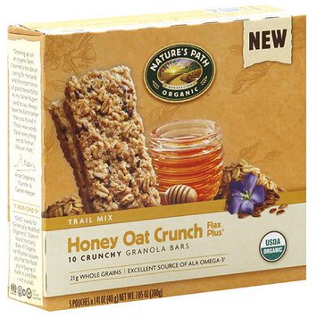 Nature's Path Organic Honey Oat Crunch Flax Plus Granola Bars, 7.05 oz (Pack of 6)