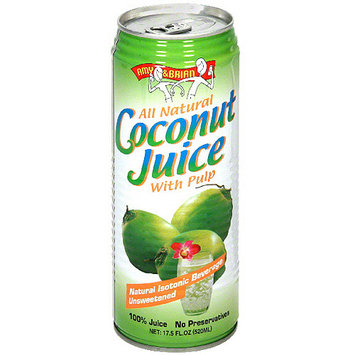 Amy & Brian Coconut Juice With Pulp, 17.5FO (Pack of 12)
