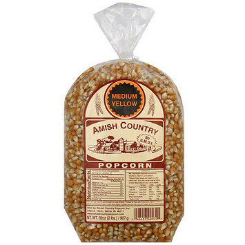 Amish Country Popcorn Medium Yellow Popcorn, 32 oz (Pack of 8)