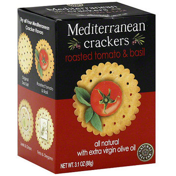 Natural Nectar Mediterranean Roasted Tomato & Basil Crackers, 3.1 oz (Pack of 12)