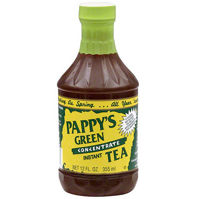 Pappy's Green Instant Tea, 12 oz (Pack of 6)
