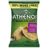 Athenos Roasted Garlic & Herb Baked Pita Chips, 9 oz (Pack of 12)