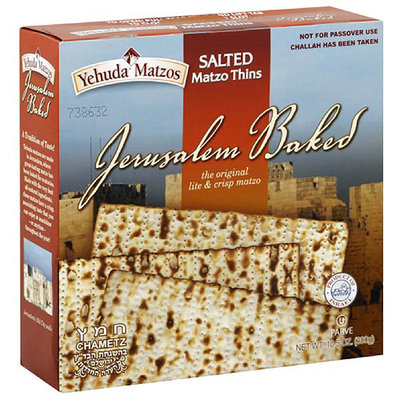 Yehuda Salted Matzo Thins, 10.5 oz (Pack of 6)