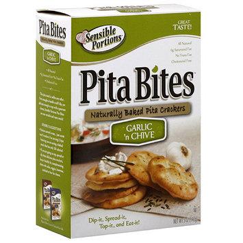 Sensible Portions Garlic Chive Pita Bite Crackers, 5 oz (Pack of 12)