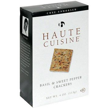Haute Cuisine Basil & Sweet Pepper Crackers, 4 oz (Pack of 12)