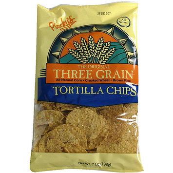 Plocky's Three Grain Tortilla Chips, 7 oz (Pack of 12)