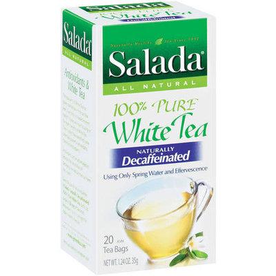 Salada Naturally Decaffeinated 100% Pure White Tea, 20ct (Pack of 6)