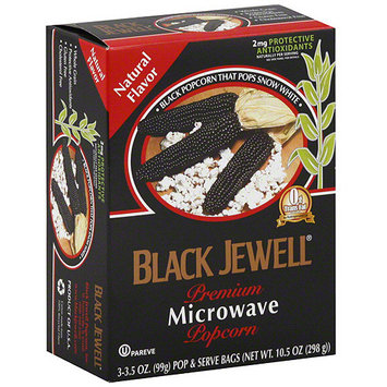Black Jewell Premium Microwave Natural Popcorn, 10.5 oz (Pack of 6)