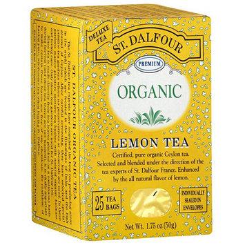 St. Dalfour Organic Lemon Herbal Tea Bags, 25ct (Pack of 6)