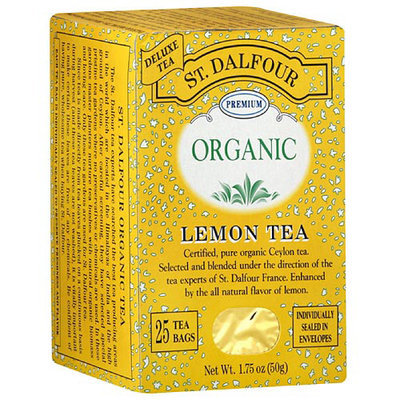 St. Dalfour Organic Lemon Herbal Tea Bags, 25ct (Pack of 6)