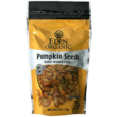 Eden Dry Roasted Pumpkin Seeds, 4 oz (Pack of 15)