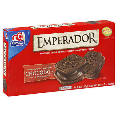 Gamesa Emperador Chocolate Creme Sandwich Cookies, 14.34 oz (Pack of 12)