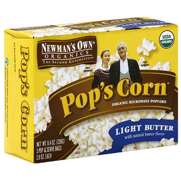 Newman's Own Organics The Second Generation Microwave Popcorn, 8.4 oz (Pack of 12)