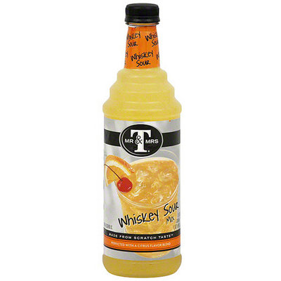 Mr & Mrs T Whiskey Sour Mix, 33.8 oz (Pack of 6)