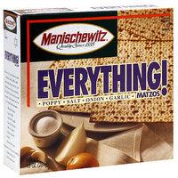 Manischewitz Everything Matzos Poppy, Salt, Onion, & Garlic Crackers, 10 oz (Pack of 12)