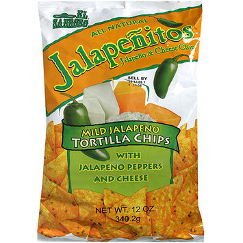 El Sabroso Jalapenitos Tortilla Chips, 12 oz (Pack of 12)