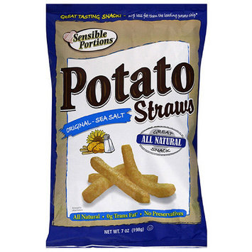 Sensible Portions Original Sea Salt Straws Potato Chips, 7 oz (Pack of 12)