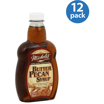 Michele's Butter Pecan Syrup, 13 fl oz, (Pack of 12)