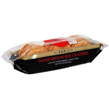 Saratoga San J Rice Crackers Tamari Brown, 2.8 oz. (Pack of 12