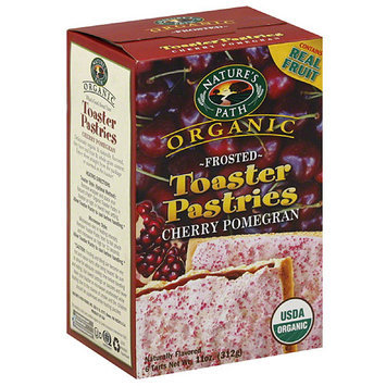 Nature's Path Organic Frosted Cherry Pomegran Toaster Pastries, 11 oz (Pack of 6)