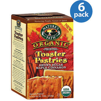 Nature's Path Organic Frosted Brown Sugar Maple Cinnamon Toaster Pastries, 11 oz (Pack of 6)