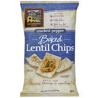 Mediterranean Snacks Baked Cracked Pepper Lentil Chips, 4.5 oz (Pack of 12)