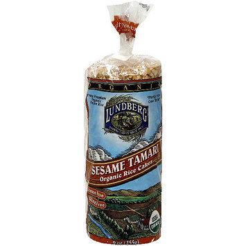 Lundberg Family Farms Organic Sesame Tamari Rice Cakes, 9 oz (Pack of 12)