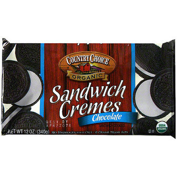 Country Choice Organic Chocolate Sandwich Cookies, 7 oz (Pack of 6)
