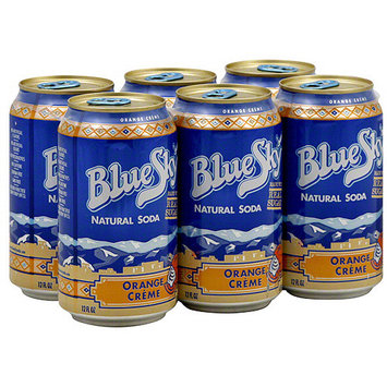 Blue Sky Natural Soda 6 Pack Cans