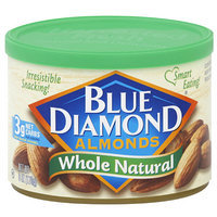 Blue Diamond Natural Whole Almonds, 6 oz, 12ct (Pack of 12)