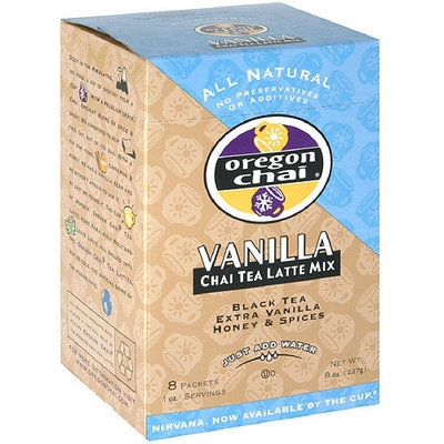 Oregon Chai Vanilla Chai Tea, 8ct (Pack of 6)