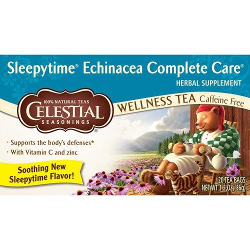 Celestial Seasonings Sleepy Time Echinacea Complete Care Wellness Tea 20ct (Pack of 6)