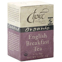 Choice Organic Teas Organic Breakfast Tea, 16ct (Pack of 6)