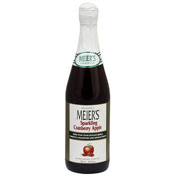 Meiers Meier's Sparkling Cranberry Apple Juice, 25.4 oz (Pack of 12)