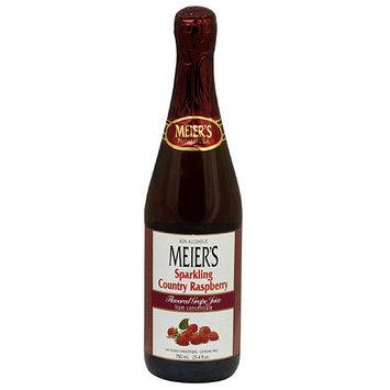 Meiers Meier's Sparkling Country Raspberry Grape Juice, 25.4 oz (Pack of 12)