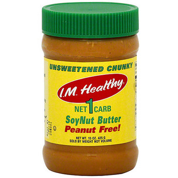 I.M. Healthy Unsweetened Chunky SoyNut Butter, 15 oz (Pack of 6)