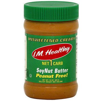 I.M. Healthy Organic No Salt Soynut Butter, 15 oz (Pack of 6)