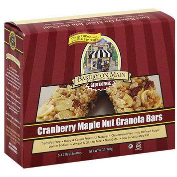 Bakery On Main Cranberry Maple Nut Granola Bar, 6 oz (Pack of 6)