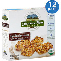Cascadian Farms Cascadian Farm Organic Chewy Dark Chocolate Almond Chewy Granola Bars, 6.2 oz, (Pack of 12)