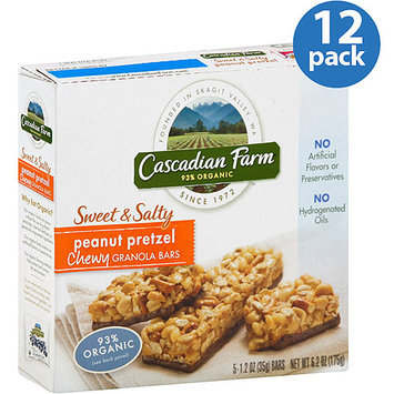 Cascadian Farms Cascadian Farm Organic Chewy Sweet & Salty Peanut Pretzel Chewy Granola Bars, 6.2 oz, (Pack of 12)