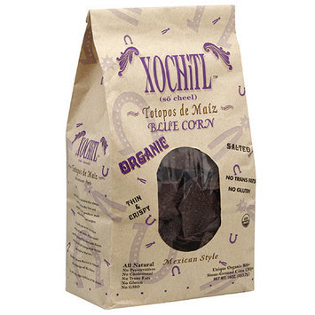 Xochitl Organic Mexican Style Blue Corn Chips, 16 oz, (Pack of 9)