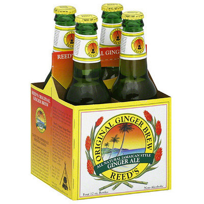 Reed's All Natural Jamaican Style Ginger Ale, 48 fl oz, (Pack of 6)