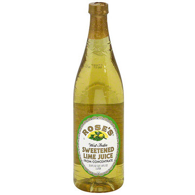 Mr & Mrs T Rose's West India Sweetened Lime Juice, 33.8 oz (Pack of 12)