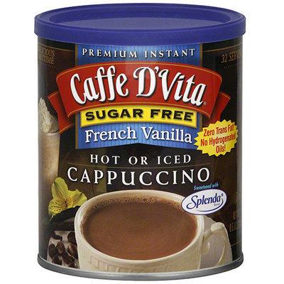 Caffe D'Vita Premium Instant Sugar Free French Vanilla Cappuccino, 8.5 oz (Pack of 6)