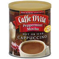 Caffe D'Vita Premium Instant Peppermint Mocha Cappuccino, 16 oz (Pack of 6)