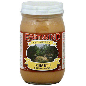 East Wing Nut Butters East Wind Nut Butters Roasted No Salt Cashew Butter, 16 oz (Pack of 12)